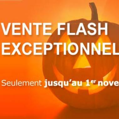 Vente Flash jusqu'au 1er Novembre