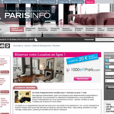 Parisinfo.com et 1000et1Paris