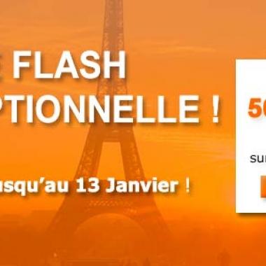 Vente Flash jusqu'au 13 Janvier 2013