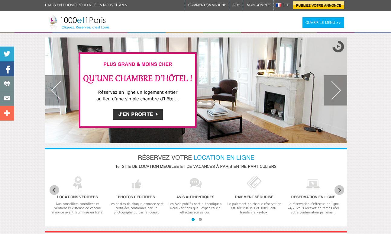 Boostez vos r servations avec le nouveau site 1000et1paris for Le site booking
